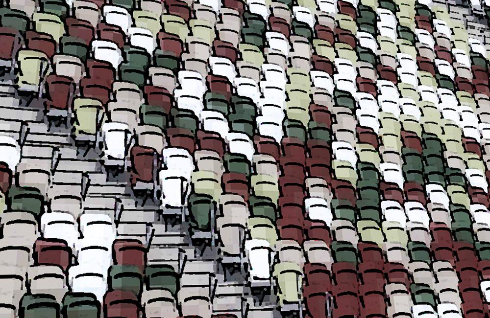 新国立競技場観客席モザイク